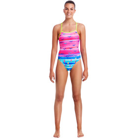 Funkita Tie Me Tight One Piece - Maillot de bain Femme - rose/bleu